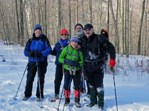 Snowshoe Fest, NEK member in Honey Hollow