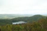 View of Wheeler Pond from nearby mountain.